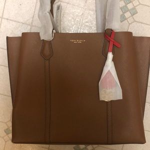 Tory Burch perry tote NWT light umber